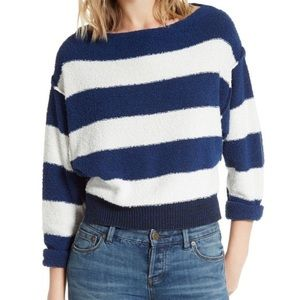 Free People size small boat neck striped sweater!
